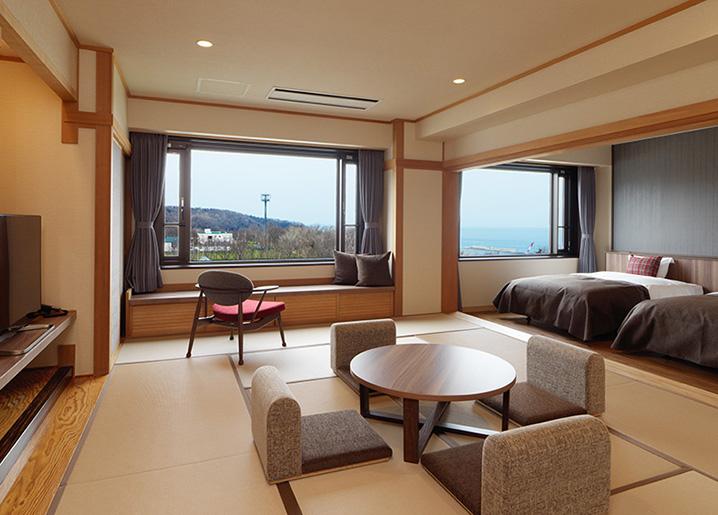 Kiki Shiretoko Natural Resort's Sunset Deluxe room
