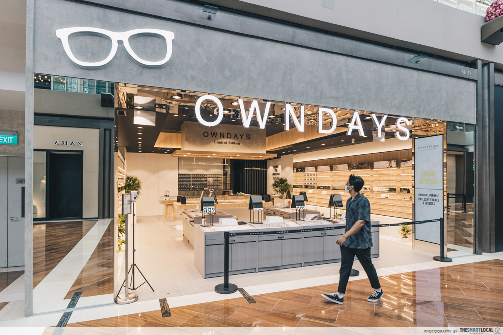 the exterior of the owndays store at mbs