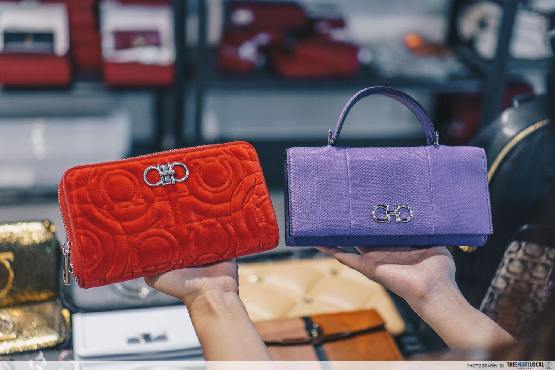 Gancini Quilted Wallet Bag OnTheList Salvatore Ferragamo sale