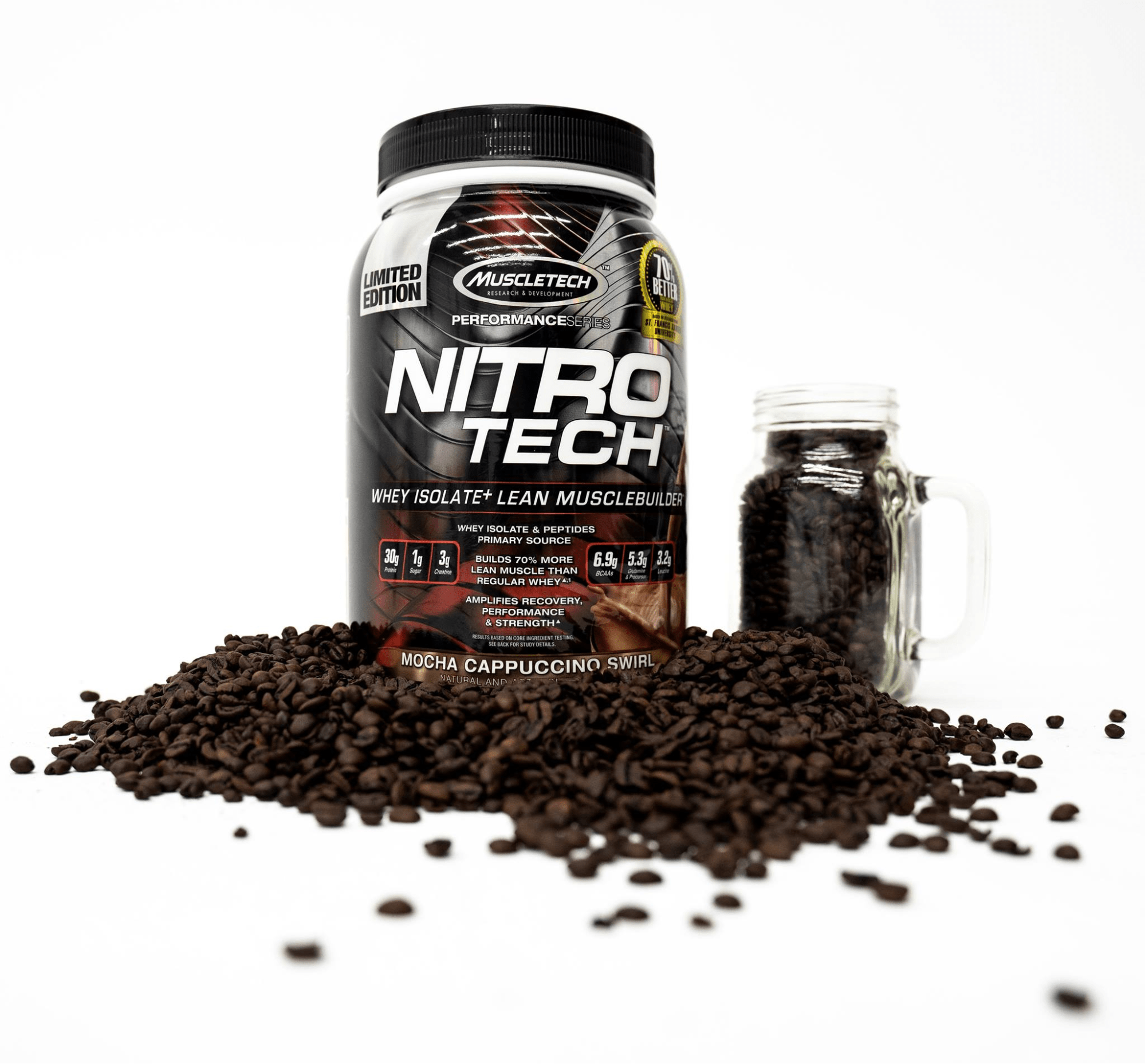 muscletech nitro tech has 30g of protein per scoop