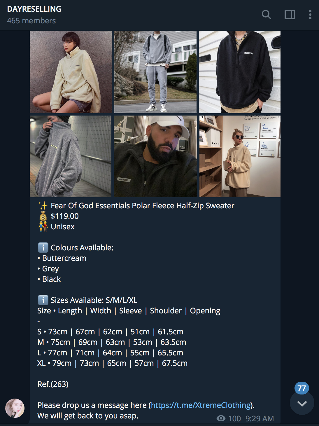 dayreselling hype clothing listing