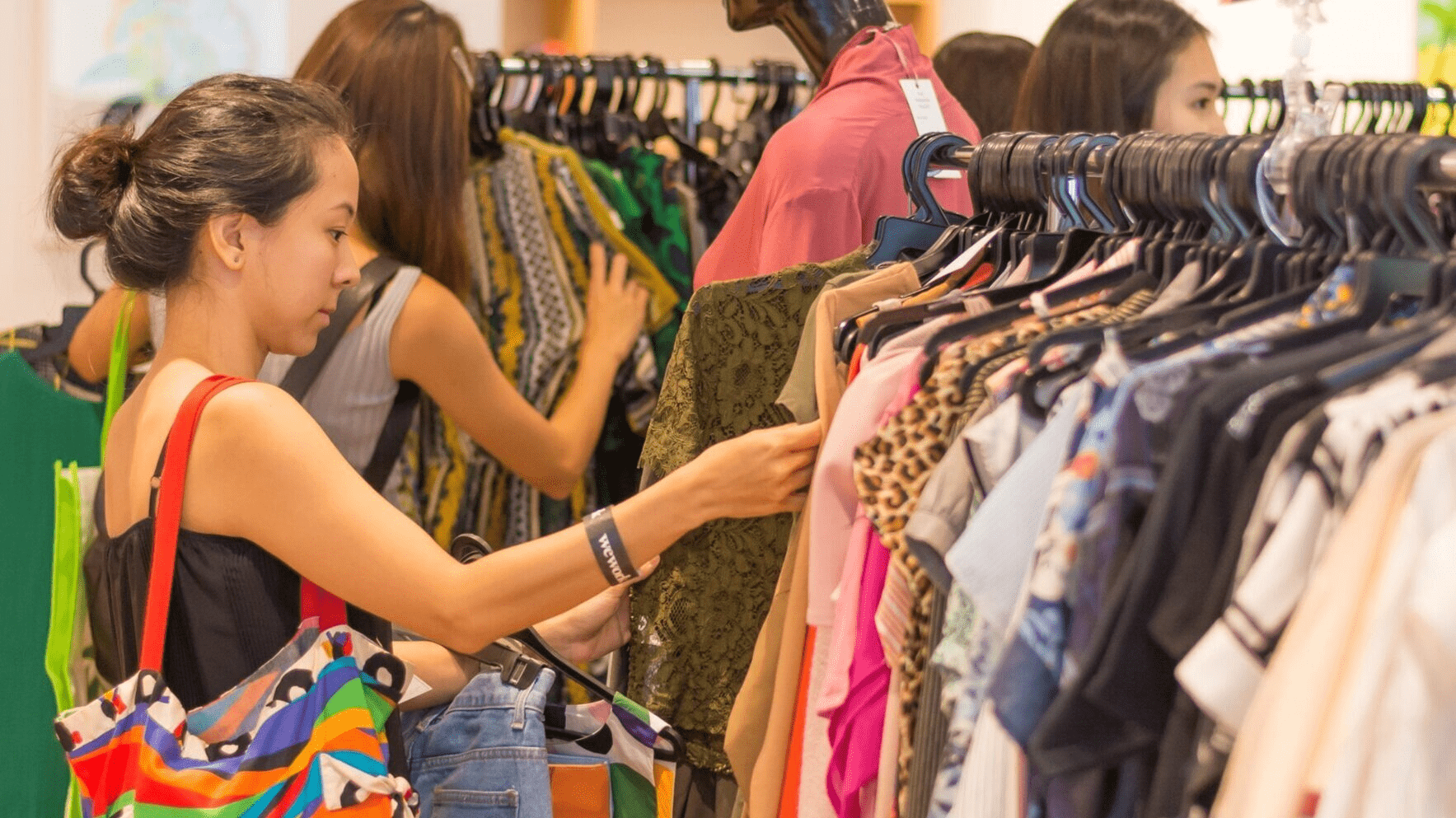 Woman Shopping At The Fashion Pulpit