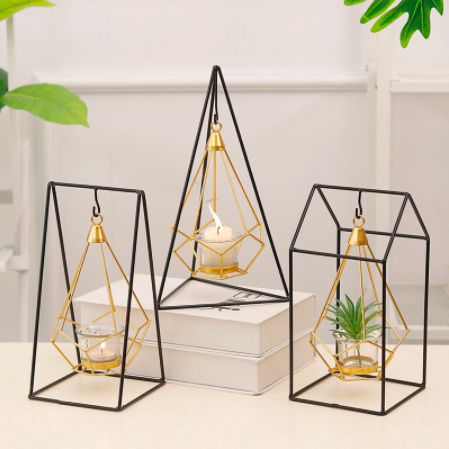 home decor products - nordic geometric candle holder