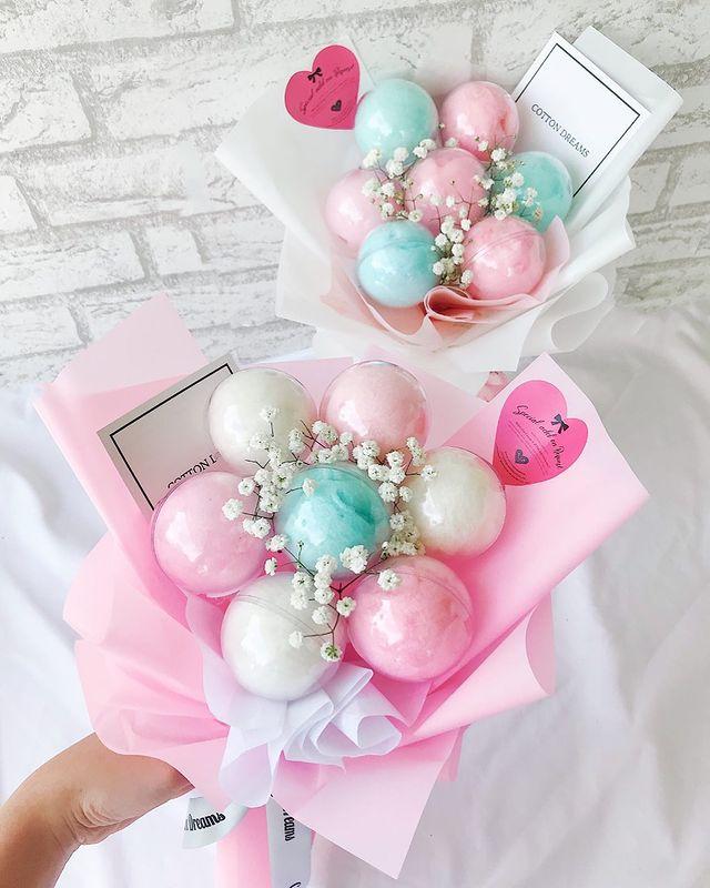 cotton candy edible bouquet