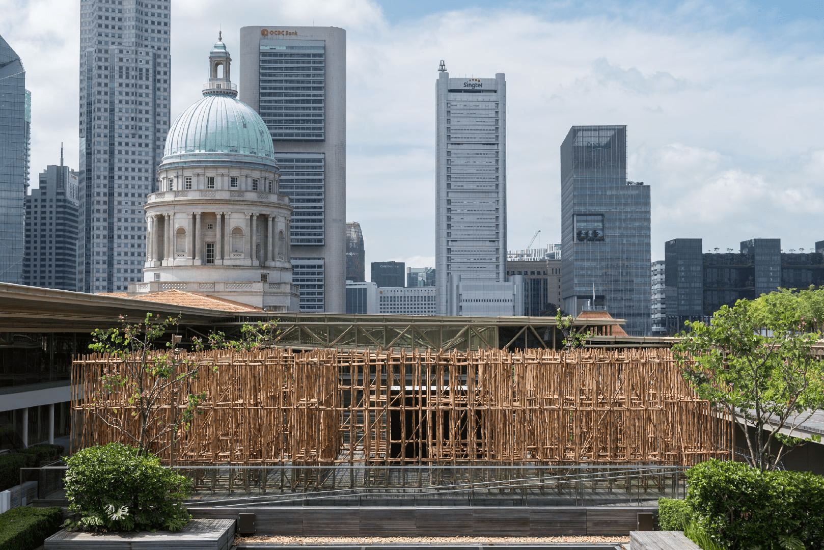 National Gallery roof garden singapore