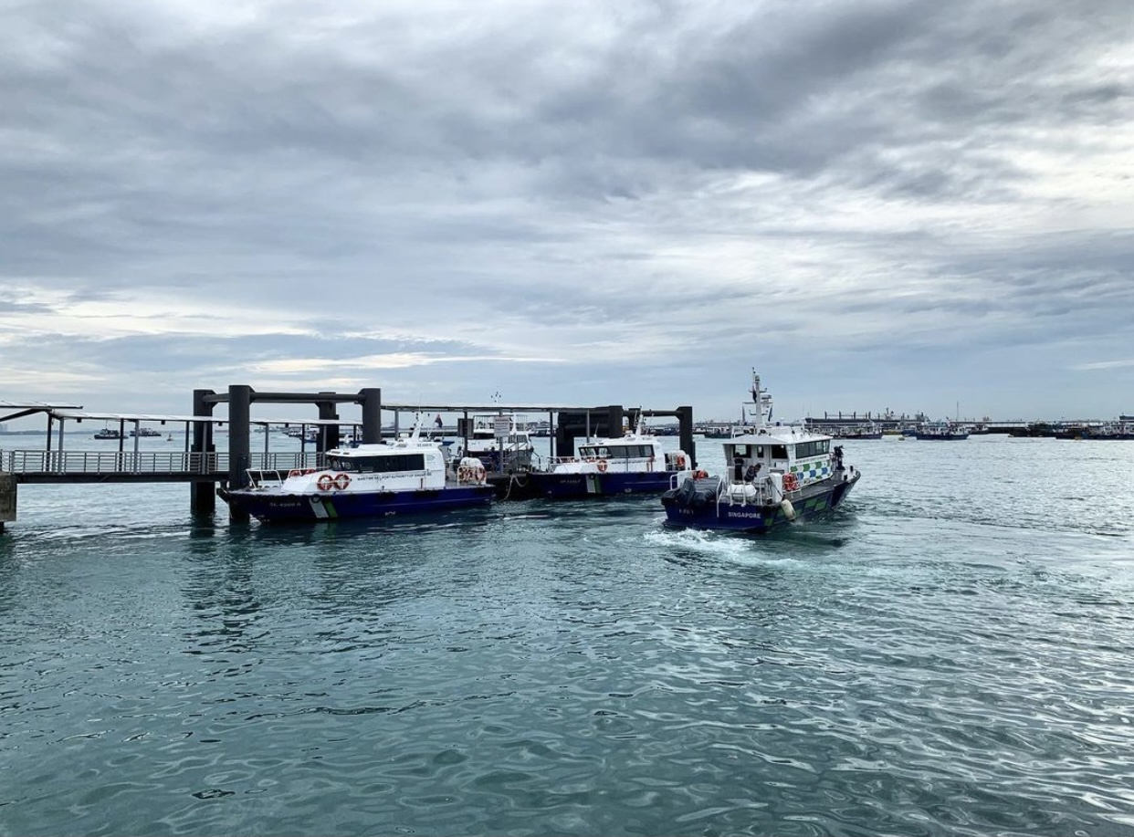 ferries at Marina South Pier
