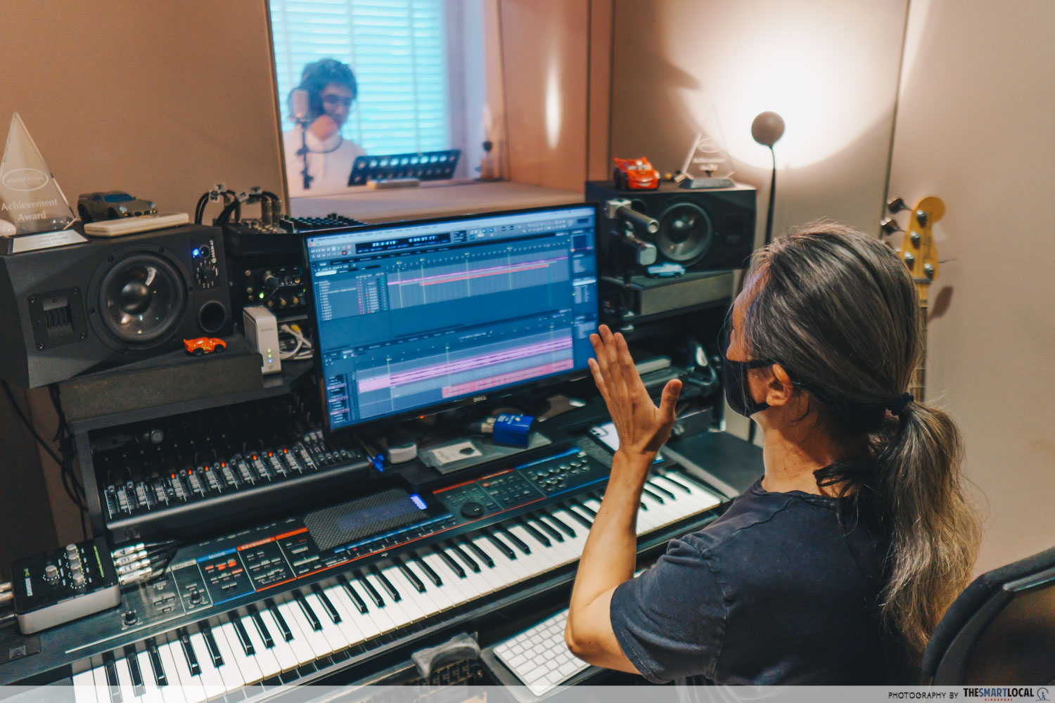 recording session at a home studio