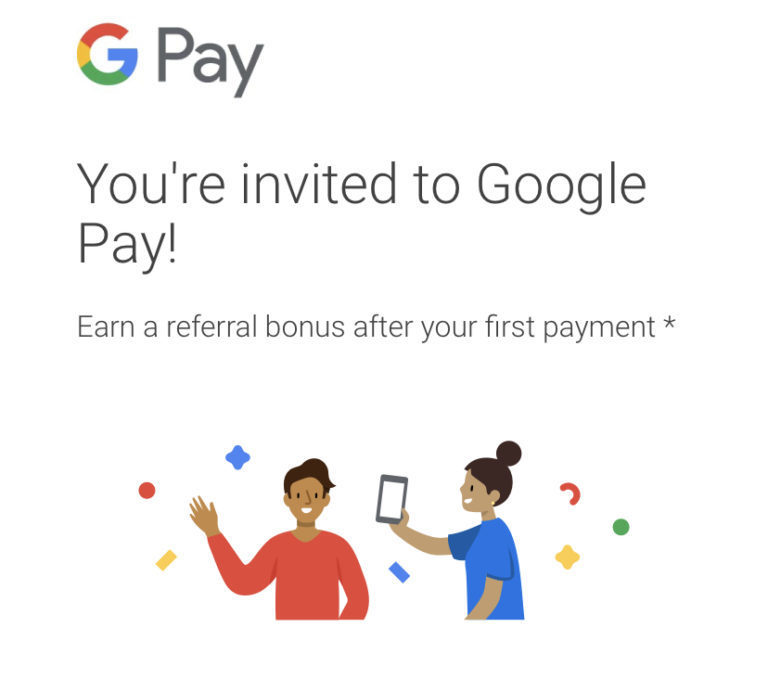 Google Pay friend referral