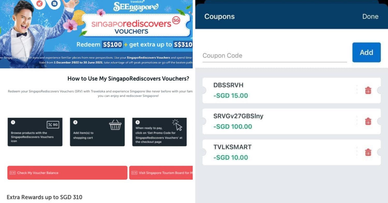 Traveloka SingapoRediscovers Voucher Promos - coupon stacking