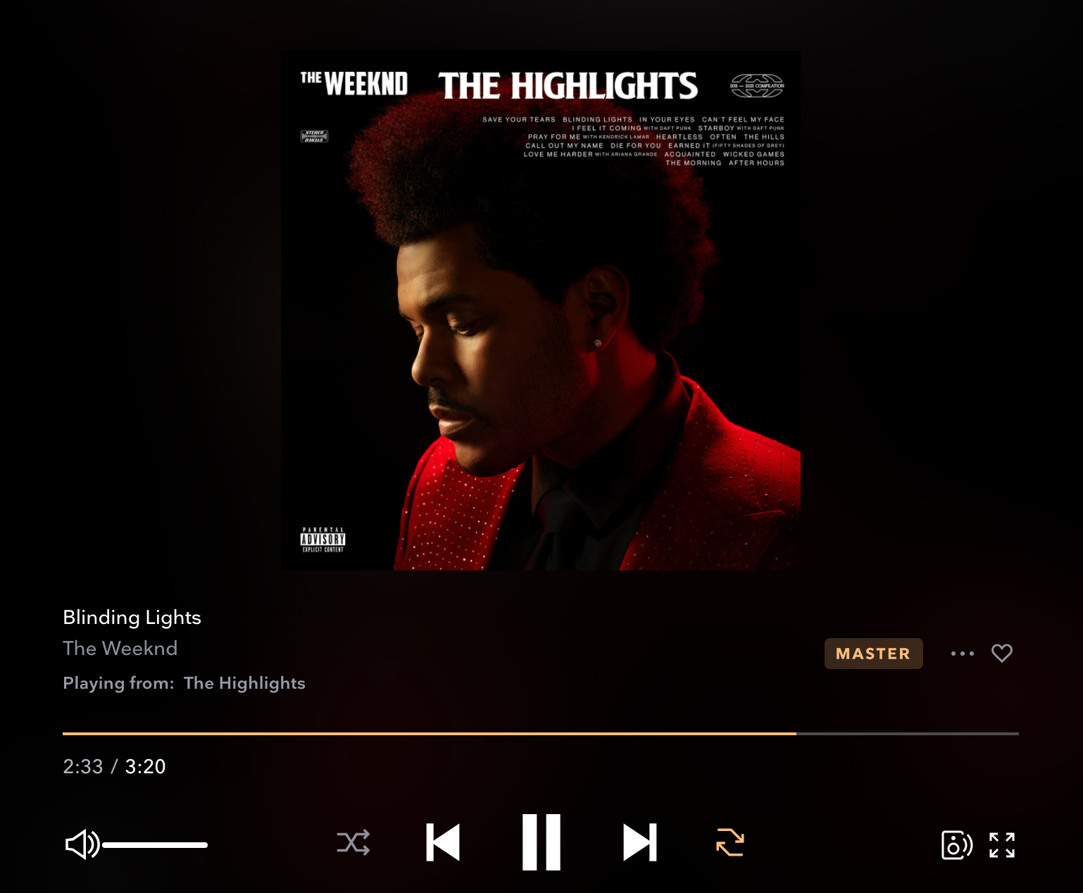the weeknd tidal music streaming