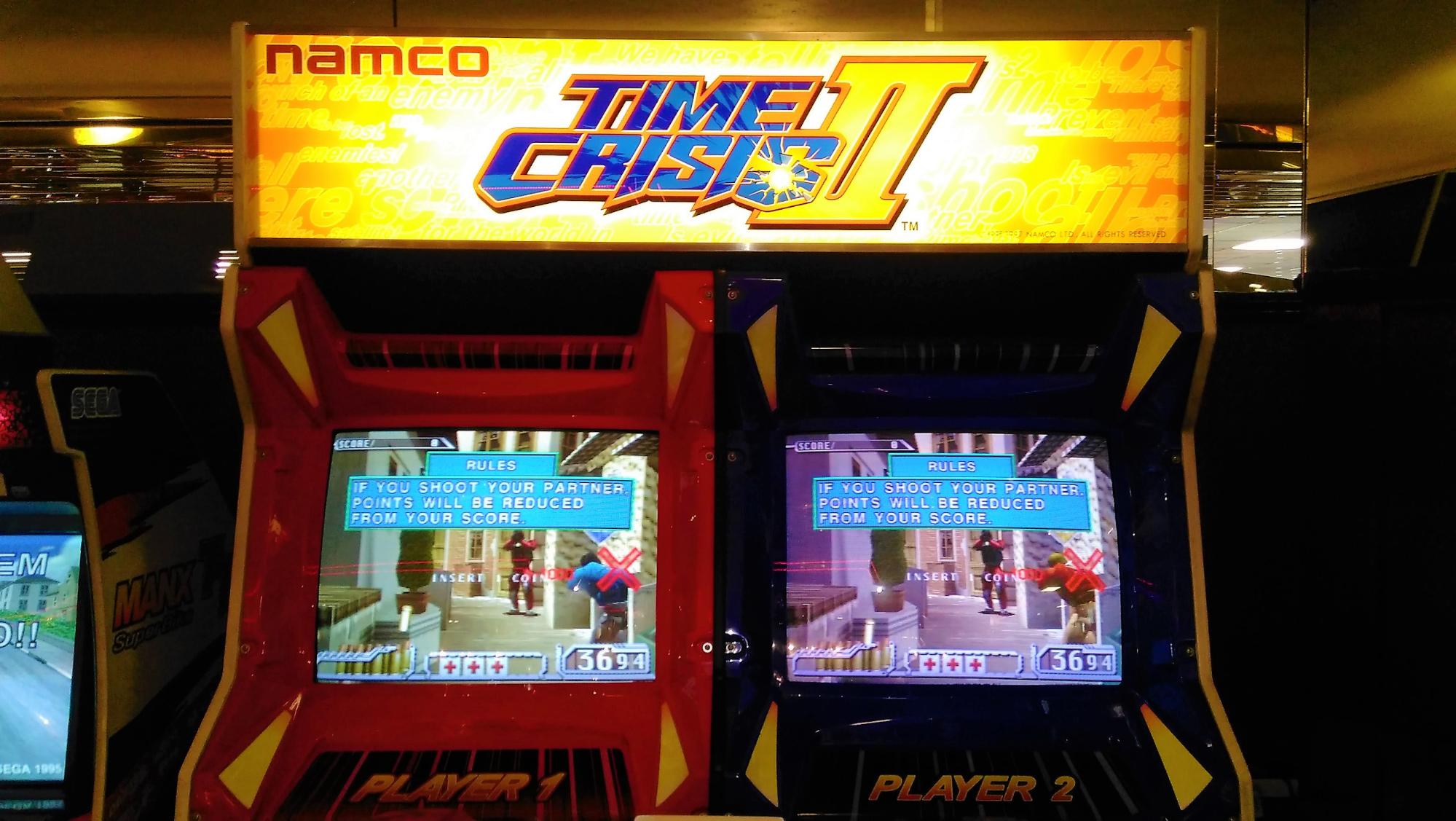 time crisis 90s arcade games