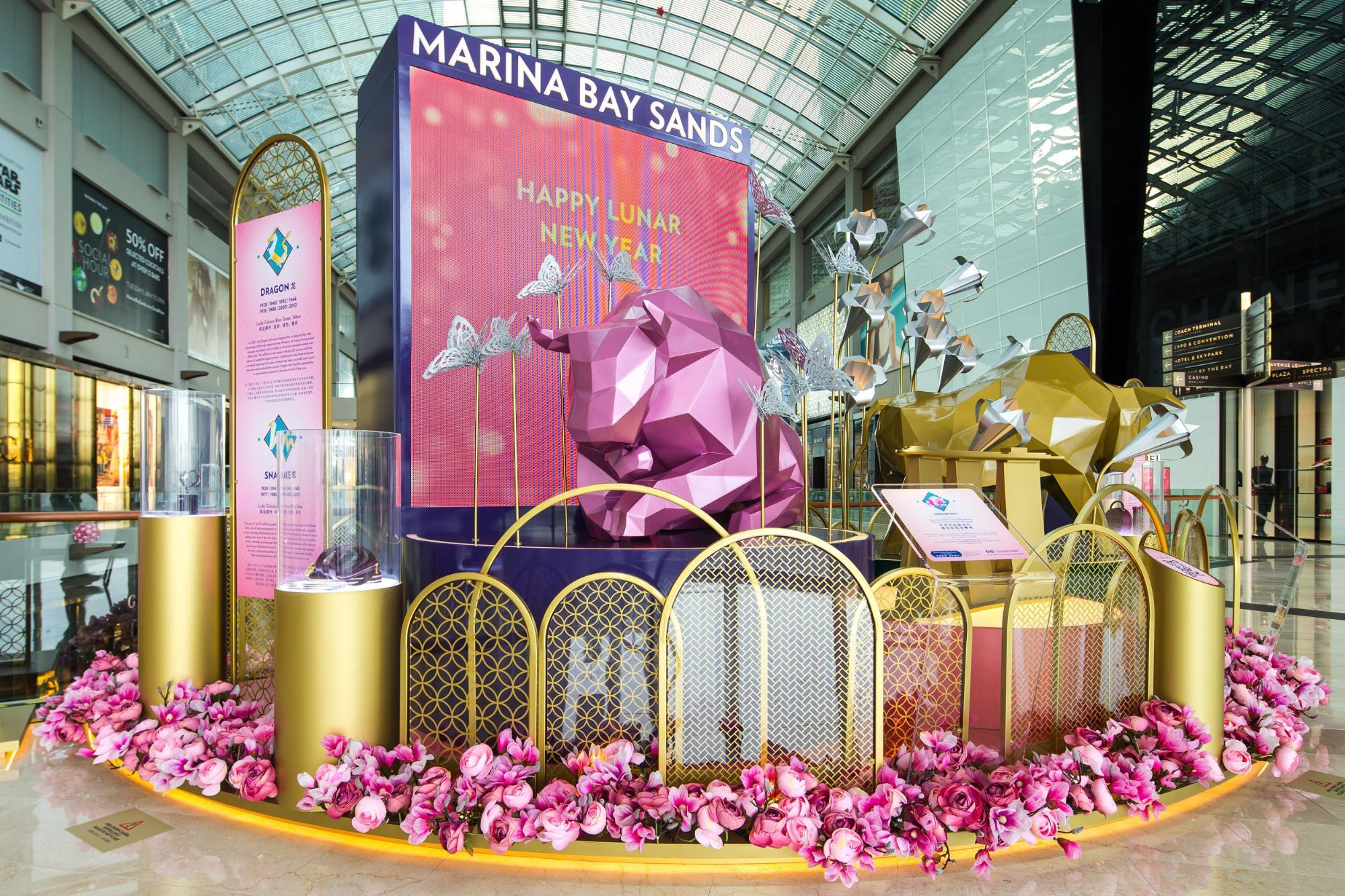 ox themed displays marina bay sands