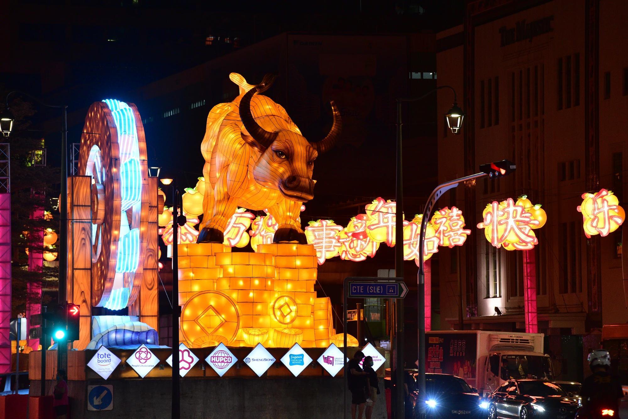 chinatown ox display