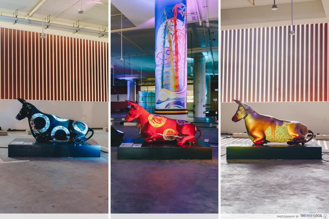 ox themed displays moo moo park