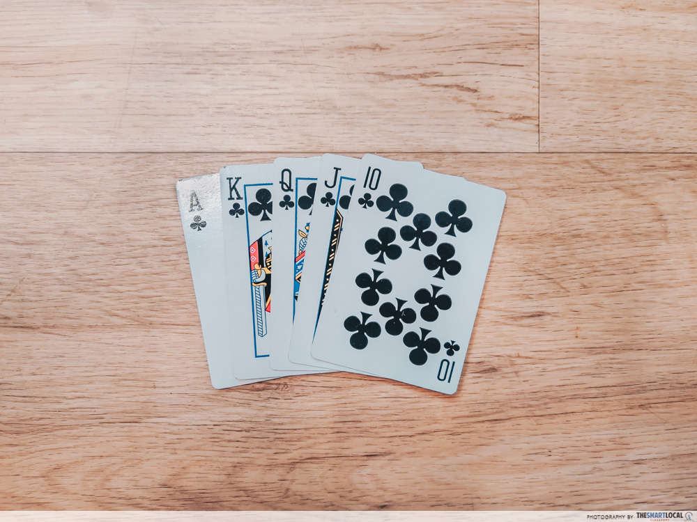playing card games (6) - royal flush texas hold 'em poker
