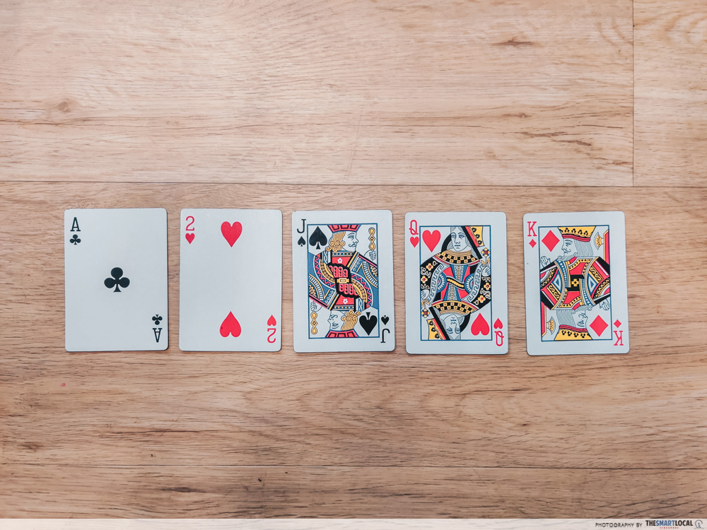 playing card games (1) - a rank of suit of playing cards