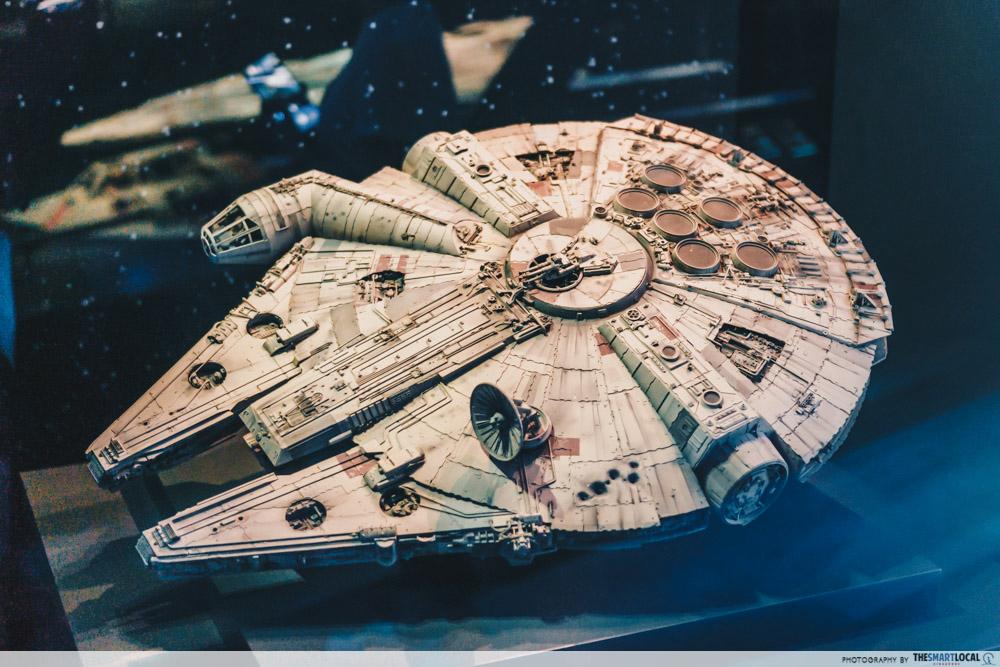 star wars identities artscience museum (2) millennium falcon model