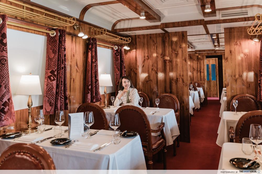 valentines day date ideas (3) - interior of orient express fine dining