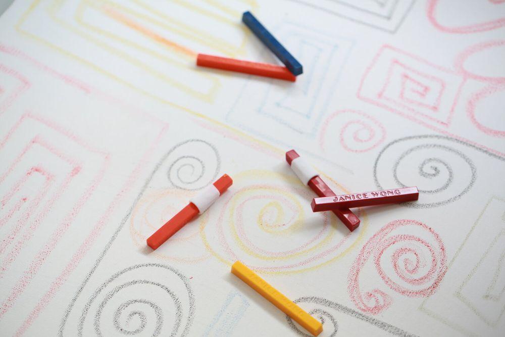 Janice Wong edible crayons