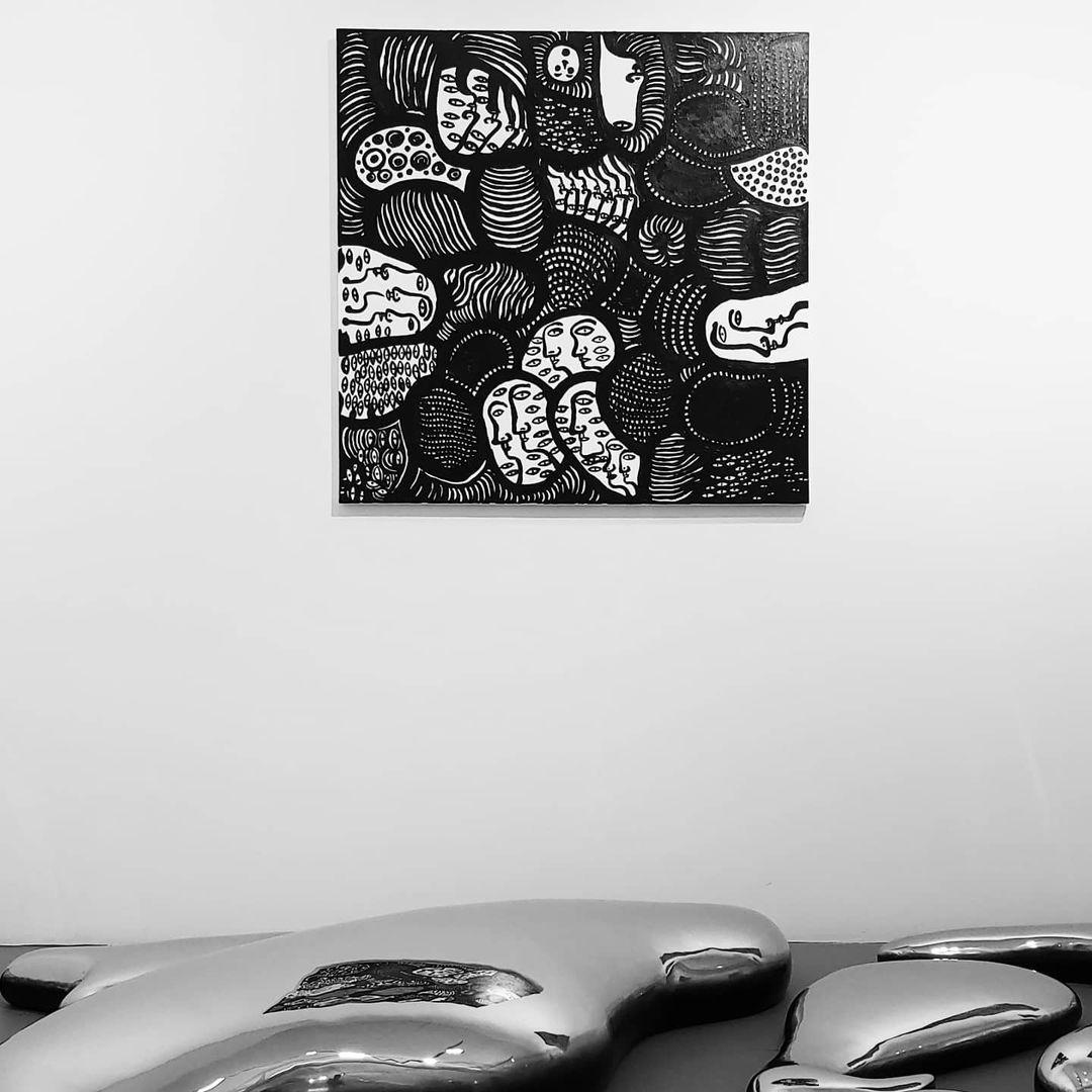 yayoi-kusama-recent-paintings - monochromatic painting