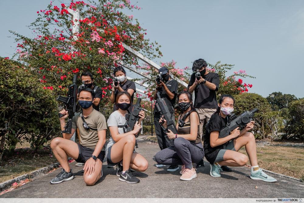 Group shot Laser Tag
