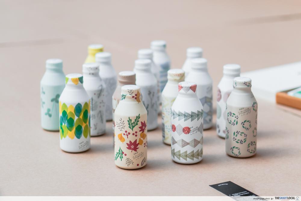 Barley tea aesthetic collectible bottles