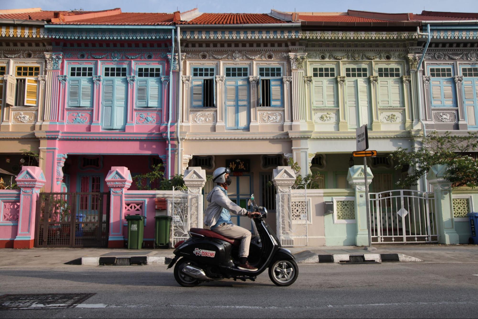 Katong Joo Chiat Photo Spots Vespa Side Car Tour