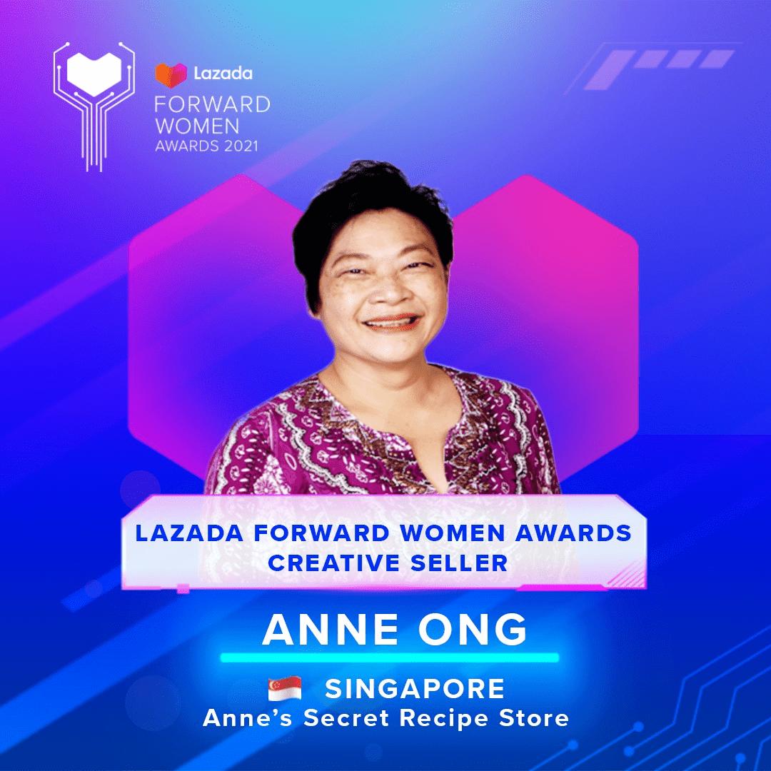 anne's secret recipe - Lazada Award Anne Ong