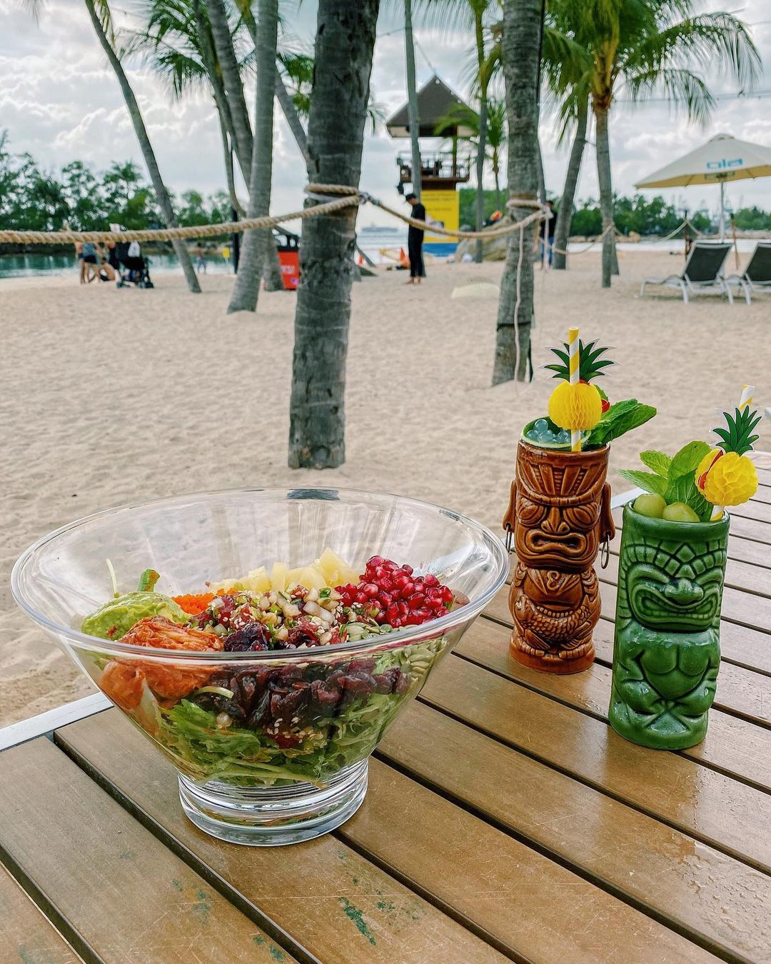 Ola Beach Club - tiki drinks and poke bowls