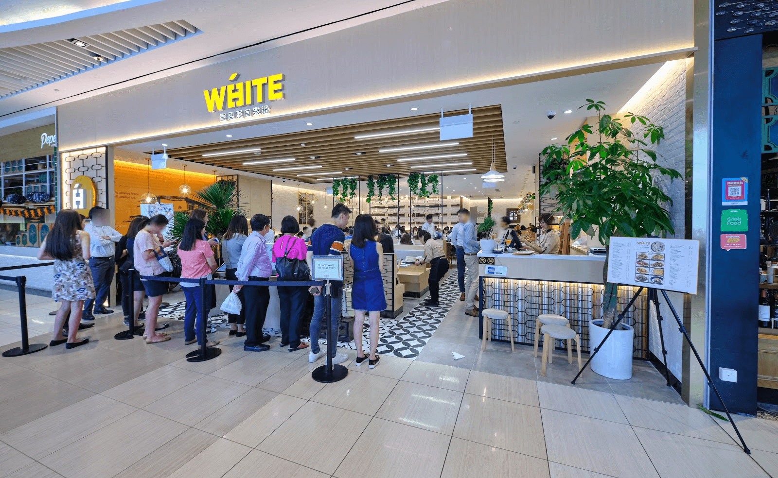 White restaurant Suntec City