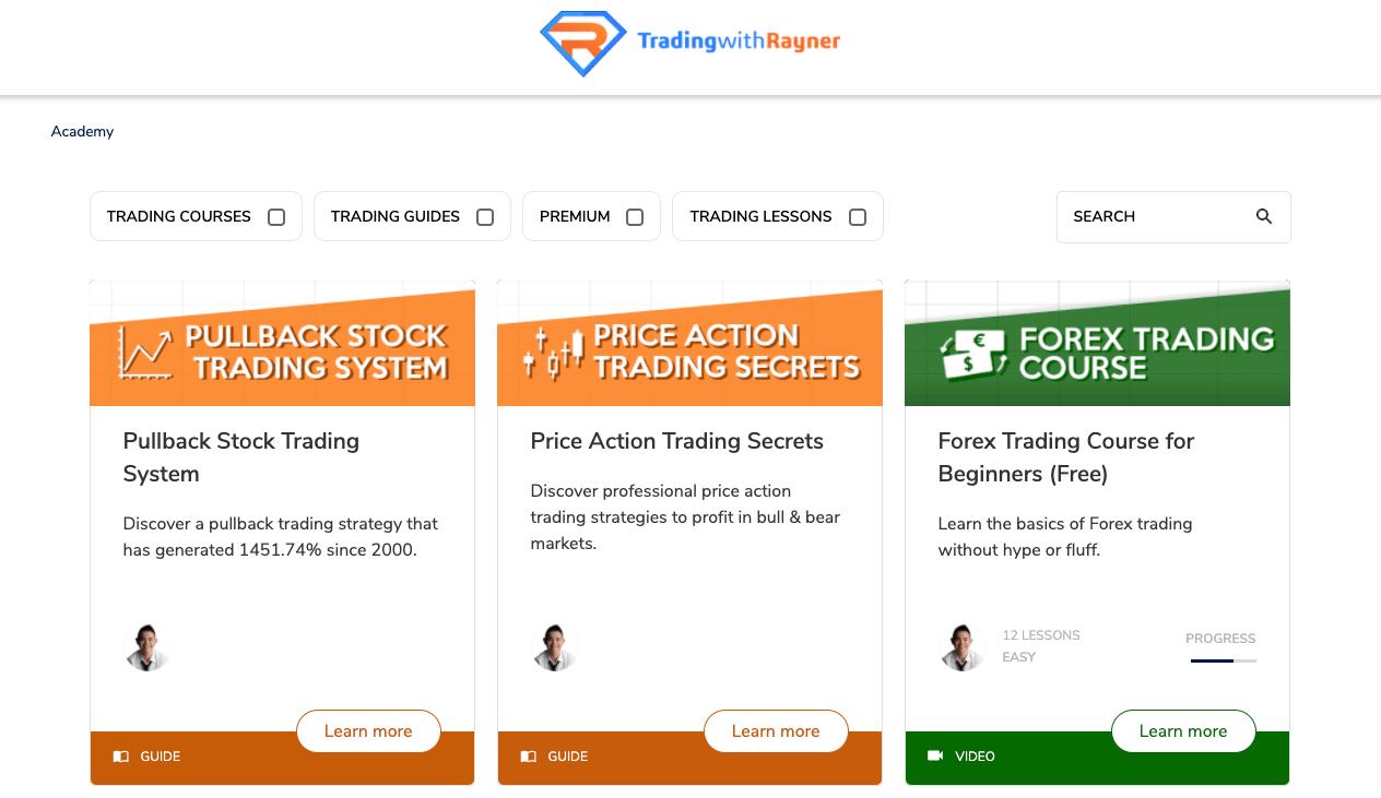 Site web de TradingwithRayner