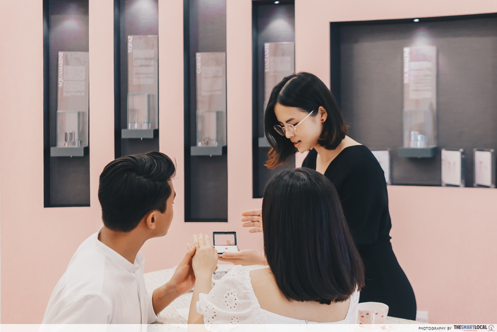 Couples Ring Shopping at Madly Gems Singapore