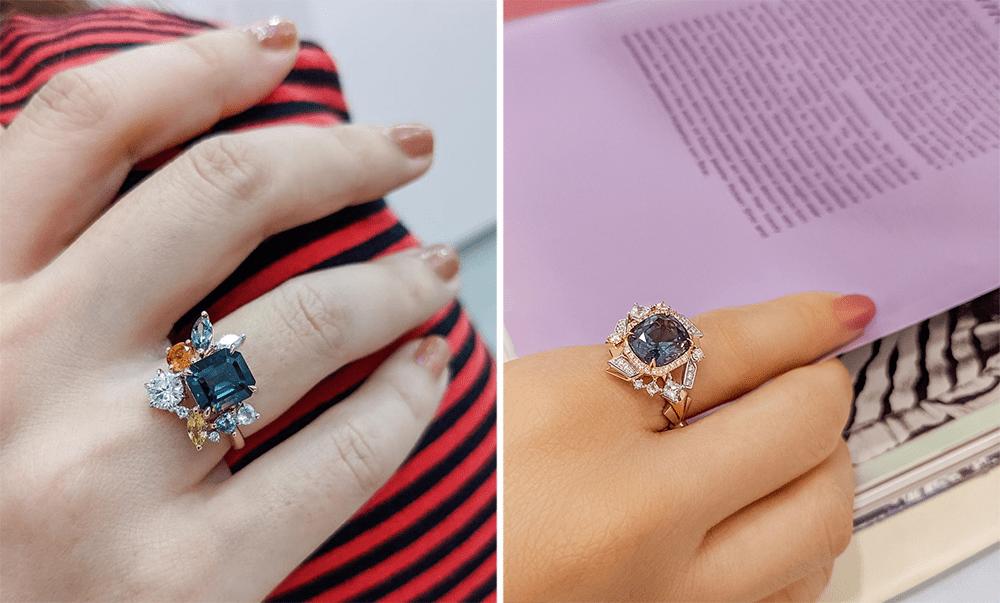 Unique Engagement Rings - Geometric Cuts