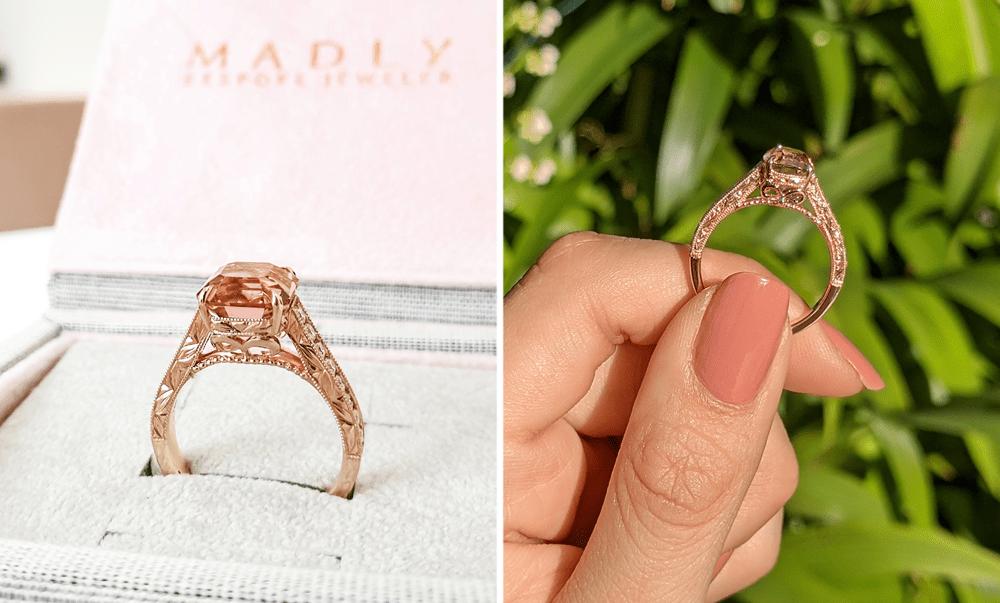 Unique Engagement Rings - Filigree Detailing
