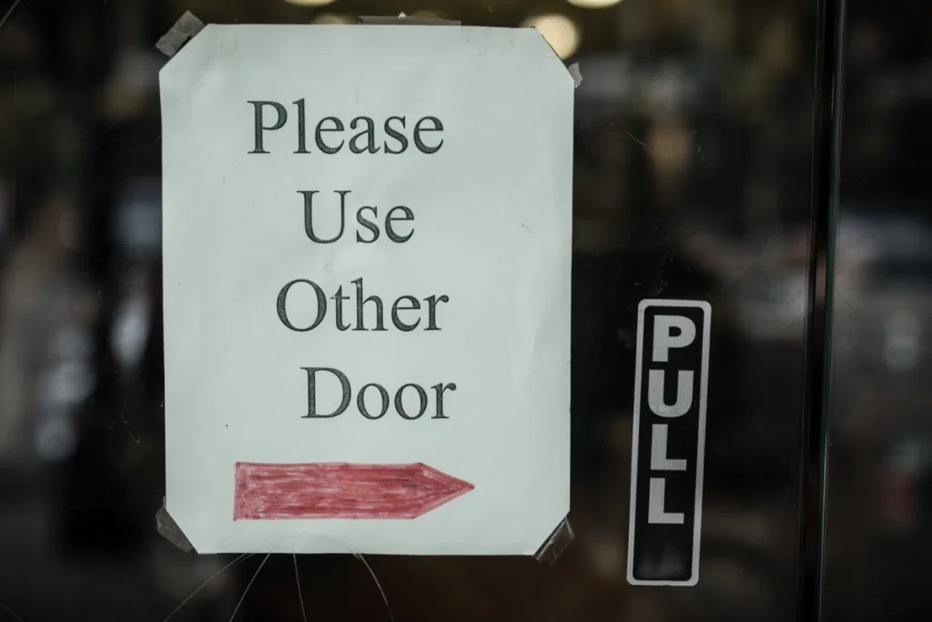 Easy April Fool's Pranks - Please use the other door