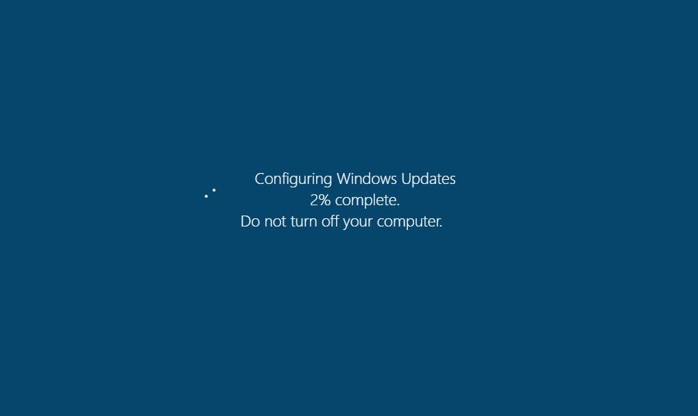 "Never-ending ""computer update"""