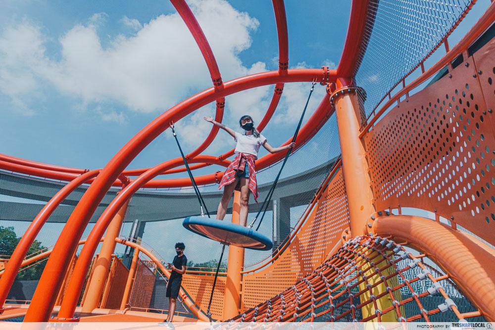 Vertical climbing nets