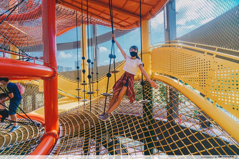 Coastal PlayGrove - Vertical climbing nets