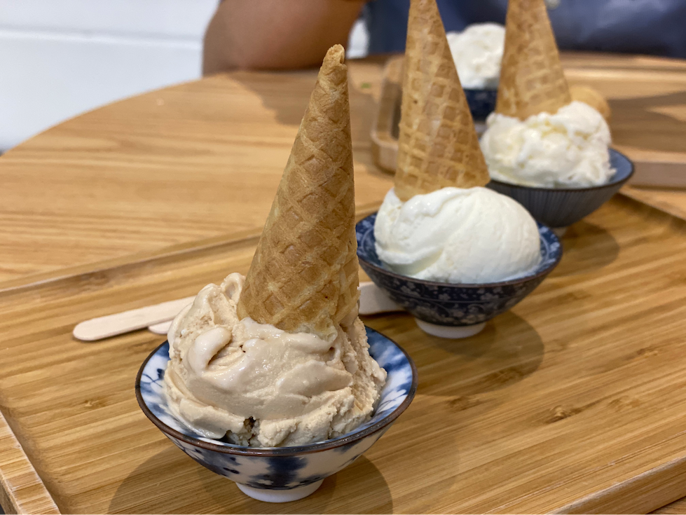 cure for sensitive teeth - eating ice cream in cups