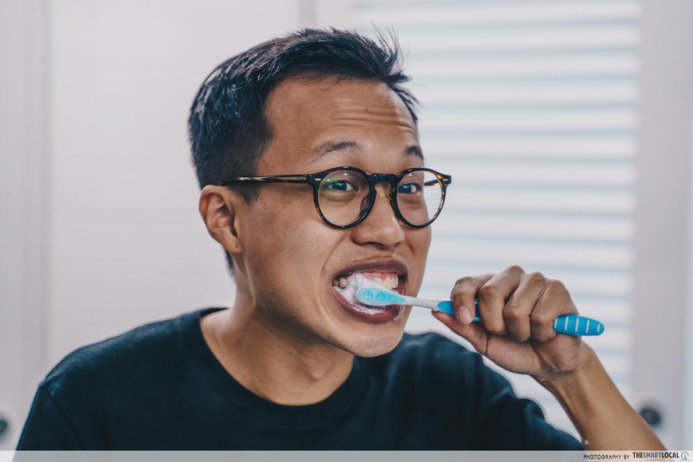 brushing for sensitive teeth