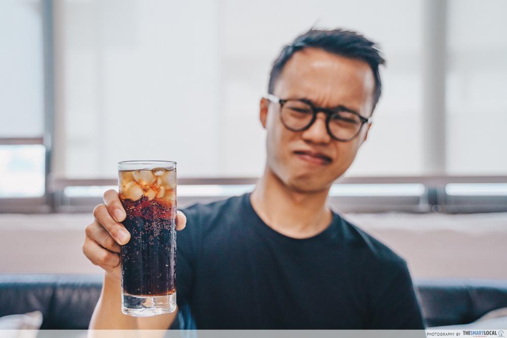 cure for sensitive teeth - avoiding ice cold sodas