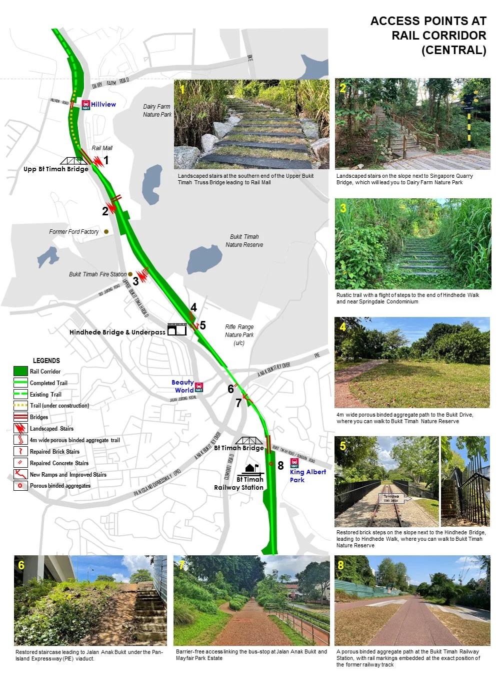 green corridor - central - map