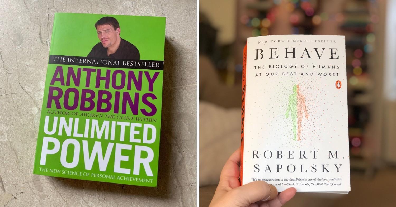 Career development books - Unlimited Power & Robert Sapolsky's works