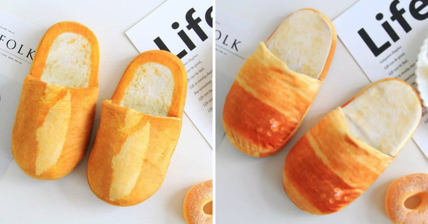 Funny office gifts - bread slippers