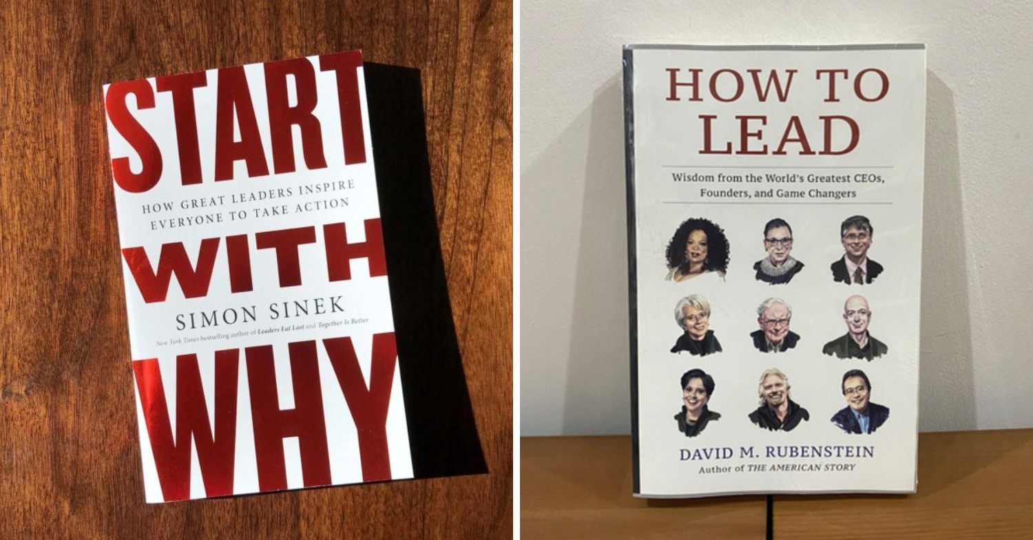Career development books - Start with Why & How To Lead