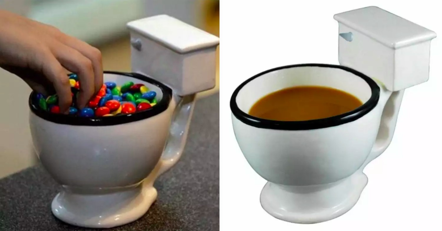 Funny office gifts - toilet bowl mug