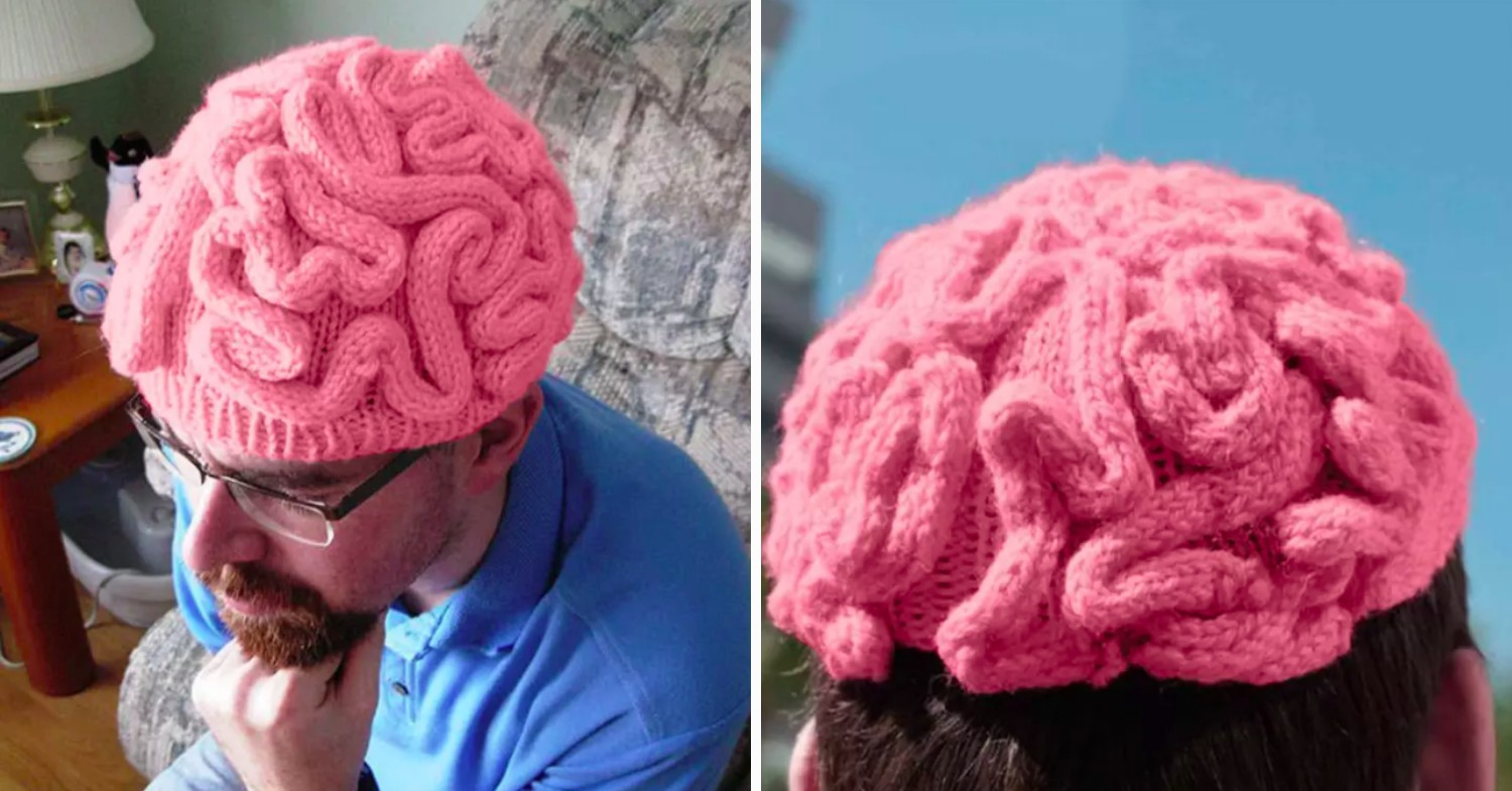 Funny office gifts - brain beanie