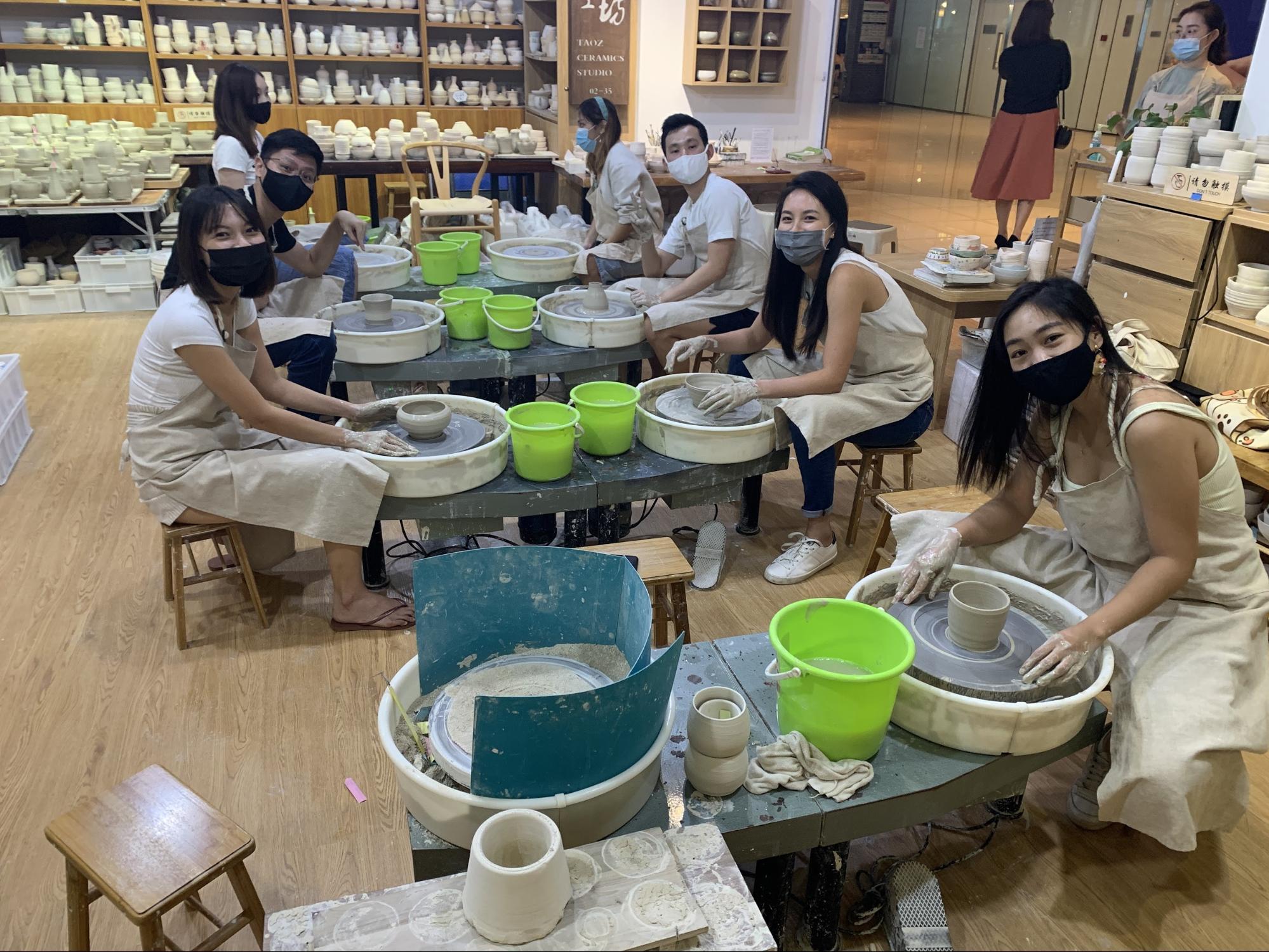 team bonding activities pottery