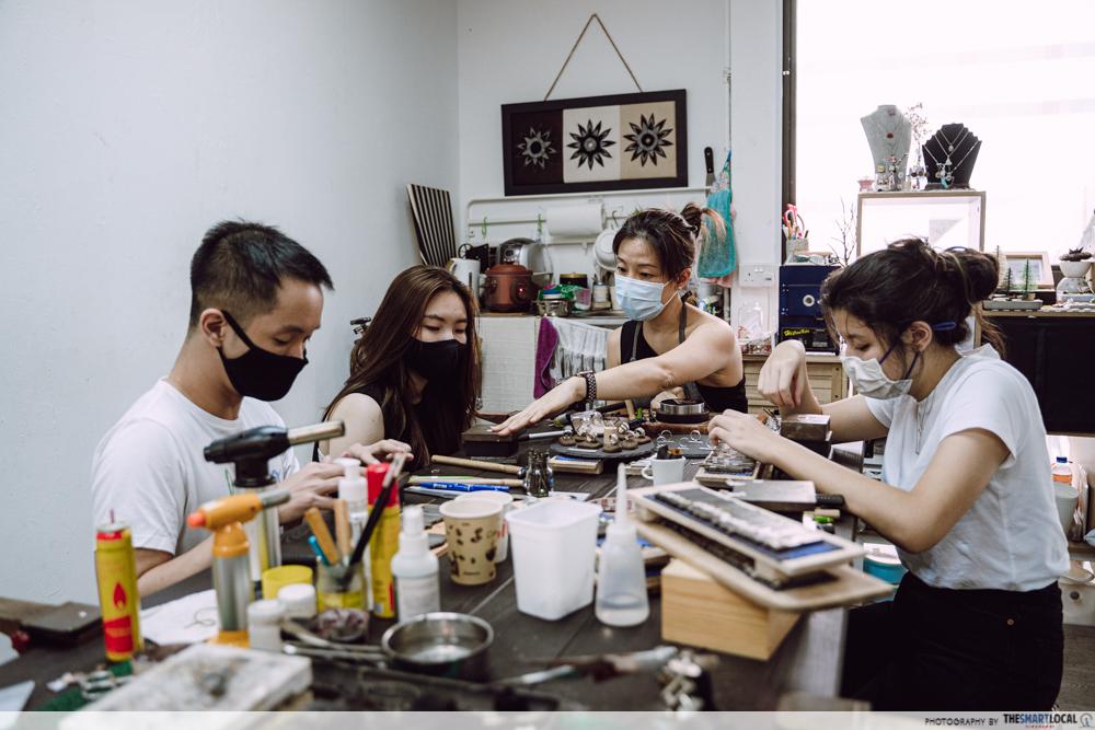 team bonding activities silver jewellery