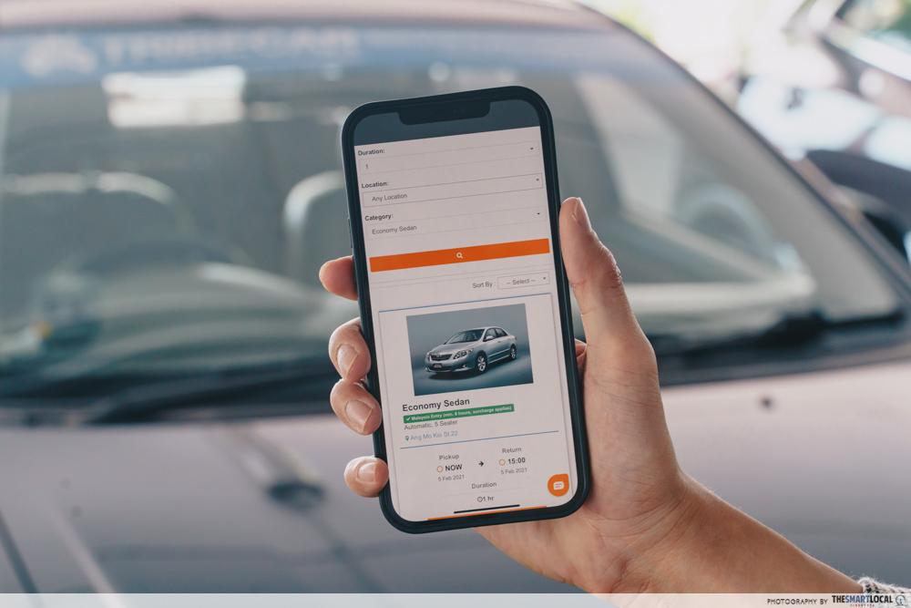 tribecar app website booking